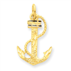 14k Anchor w/ Rope Charm