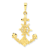 14k Large Anchor w/ Wheel Charm