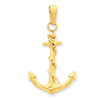 14k Anchor Pendant