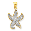 14k Diamond Starfish Pendant