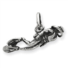 Sterling Silver Antiqued Scuba Diver Charm