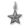 Sterling Silver Antique Starfish Charm