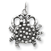 Sterling Silver Anitqued Crab Charm