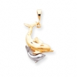 10k Two-tone Dolphin Charm
