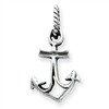 Sterling Silver Antiqued Anchor Pendant