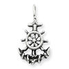 Sterling Silver Antiqued Anchor & Ship