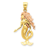 14k Two-Tone Mermaid Charm