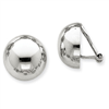 14k White Gold Polished Non-pierced Earrings