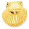 14k Fits up to 10mm & 8mm Medium Scallop Shell Slide