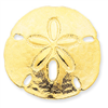 14k Polished Fits up to 10mm & 8mm Medium Sand dollar Slide