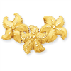 14k Fits up to 4mm & 6mm Satin Diamond-cut Starfish Slide