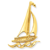 14k Polished Sailboat Pendant