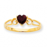Picture of 10k Polished Geniune Garnet Birthstone Ring