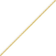 Picture of 14K Gold 1.3mm Solid Diamond Cut Cable Chain