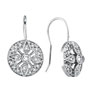 14K White Gold .51ct Diamond Antique-Style Drop Earrings SI1-SI2 G-H