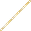 14K Gold 4.75mm Semi-Solid Figaro Chain