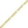14K Gold 5.35mm Semi-Solid Figaro Chain