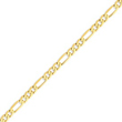 14K Gold 5.25mm Flat Figaro Chain