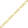 14K Gold 7mm Flat Figaro Chain
