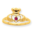 14K Gold Garnet January Birthstone Ring