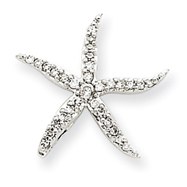 Picture of 14K White Gold Diamond Star Fish Pendant