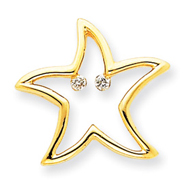 Picture of 14K Gold Diamond Star Pendant
