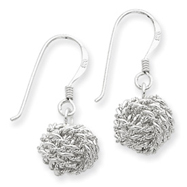 Picture of Sterling Silver Satin Love Knot Earrings