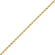 Picture of 14K Gold 1.75mm Handmade Regular Rope Anklet