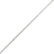 Picture of 14K White Gold 1mm Rolo Pendant Chain