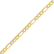 Picture of 14K Gold 5.35mm Semi-Solid Figaro Chain