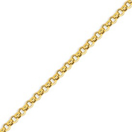 Picture of 14K Gold 5mm Hollow Rolo Chain