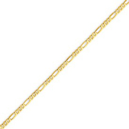 Picture of 14K Gold 2.25mm Flat Figaro Chain
