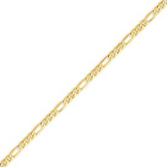 Picture of 14K Gold 3.25mm Flat Figaro Chain