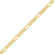 Picture of 14K Gold 4.75mm Flat Figaro Link Chain
