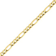 Picture of 14K Gold 6mm Concave Open Figaro Chain