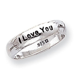 "Picture of Sterling Silver ""I Love You"" Ring"