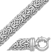Picture of 14K White Gold 9.1mm Bizantine Bracelet