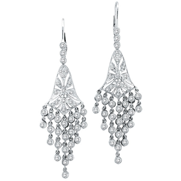 14k white gold 227ct diamond chandelier earrings aloadofball Gallery