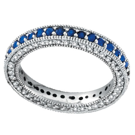 sapphire gldiamonds band blue bands product size anniversary gold white
