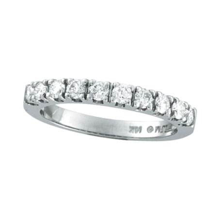14K White Gold 57ct Diamond Wedding Band Ring