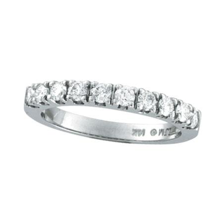 14k white gold 57ct diamond wedding band ring - Wedding Band Ring