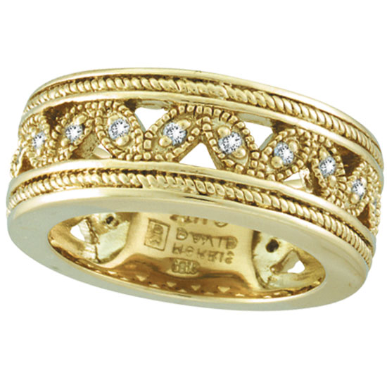 asp round diamond sapphire p ring gold yellow band bands