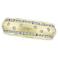 Picture of 14K Gold Diamond Ring Eternity Band