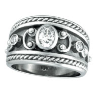 Picture of 18K White Gold .56ct Diamond Antique Style Ring