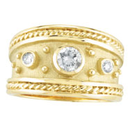 Picture of 18K Yellow Gold .40ct Diamond Antique Style Ring