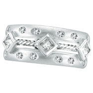 Picture of 14K White Gold Antique Style .69ct Pave Diamond Ring Band