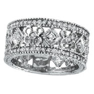 Picture of 14K White Gold .66ct Diamond Deisgned Eternity Band