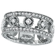 Picture of 14K White Gold .91ct Diamond Oval Spotted Eternity Ring Band