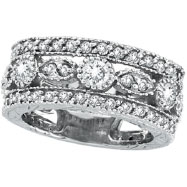 Picture of 14K White Gold 2.15ct Diamond Large Eternity Ring Band