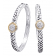 Alesandro Menegati 18K Accented Sterling Silver Earrings with Diamonds